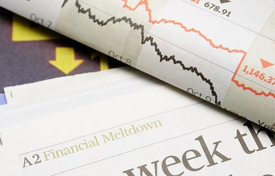 Newspaper headlines - finanical meltdown